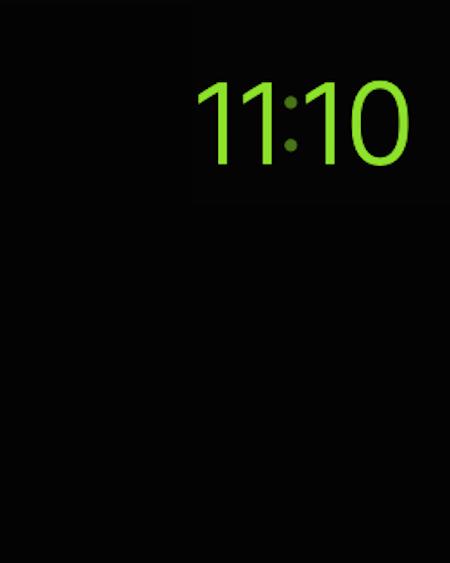 Apple Watch in Power Reserve mode