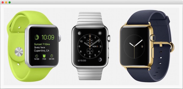 Apple Watch trio of devices