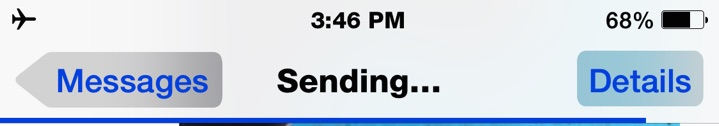 Cancel Sending a message on iPhone