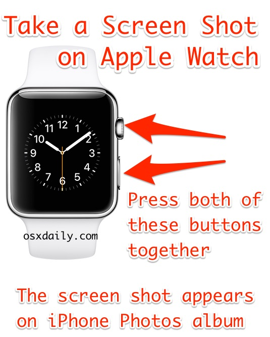 How to take a screenshot on Apple Watch