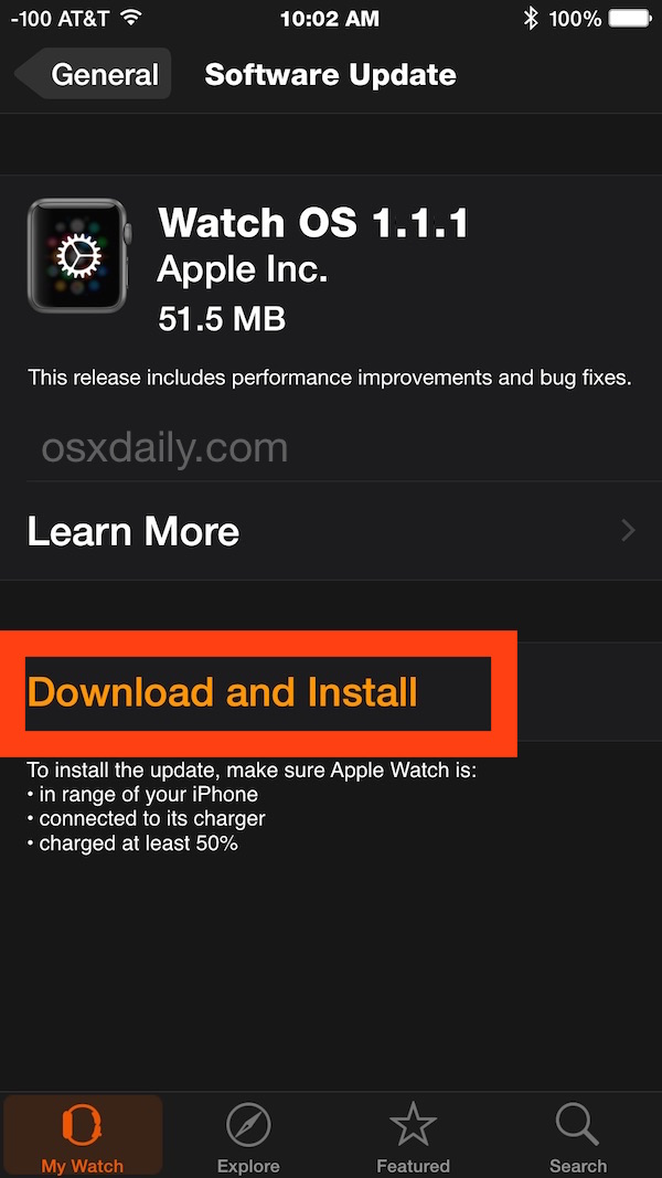 How to update Apple Watch OS