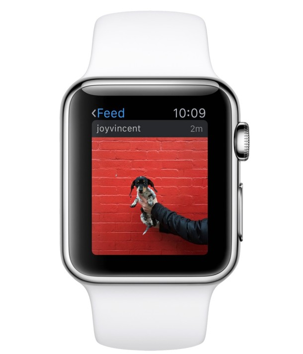 Instagram app on an Apple Watch