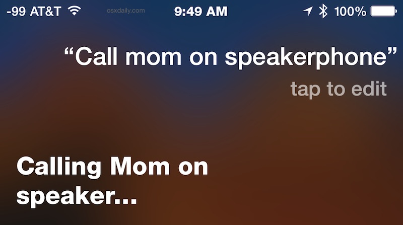 Make calls on speaker phone from iPhone with Siri