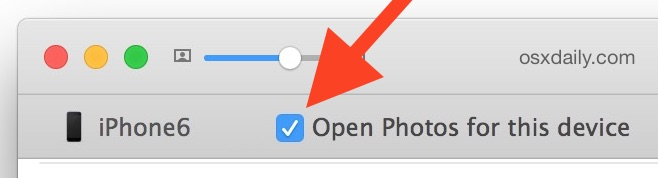 Open Photos automatically when iPhone connects to Mac