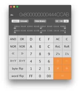 Programmer Calculator and Scientific Calculator in Mac OS X