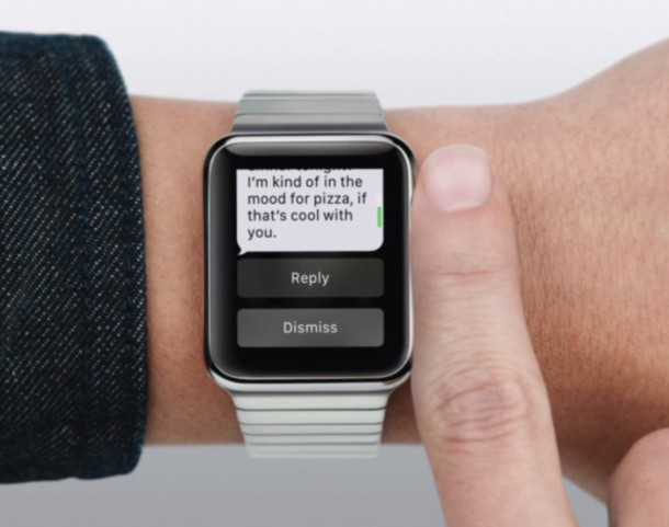 Quick reply to messages on Apple Watch