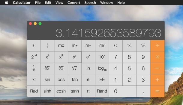 Scientific Calculator in Mac OS X