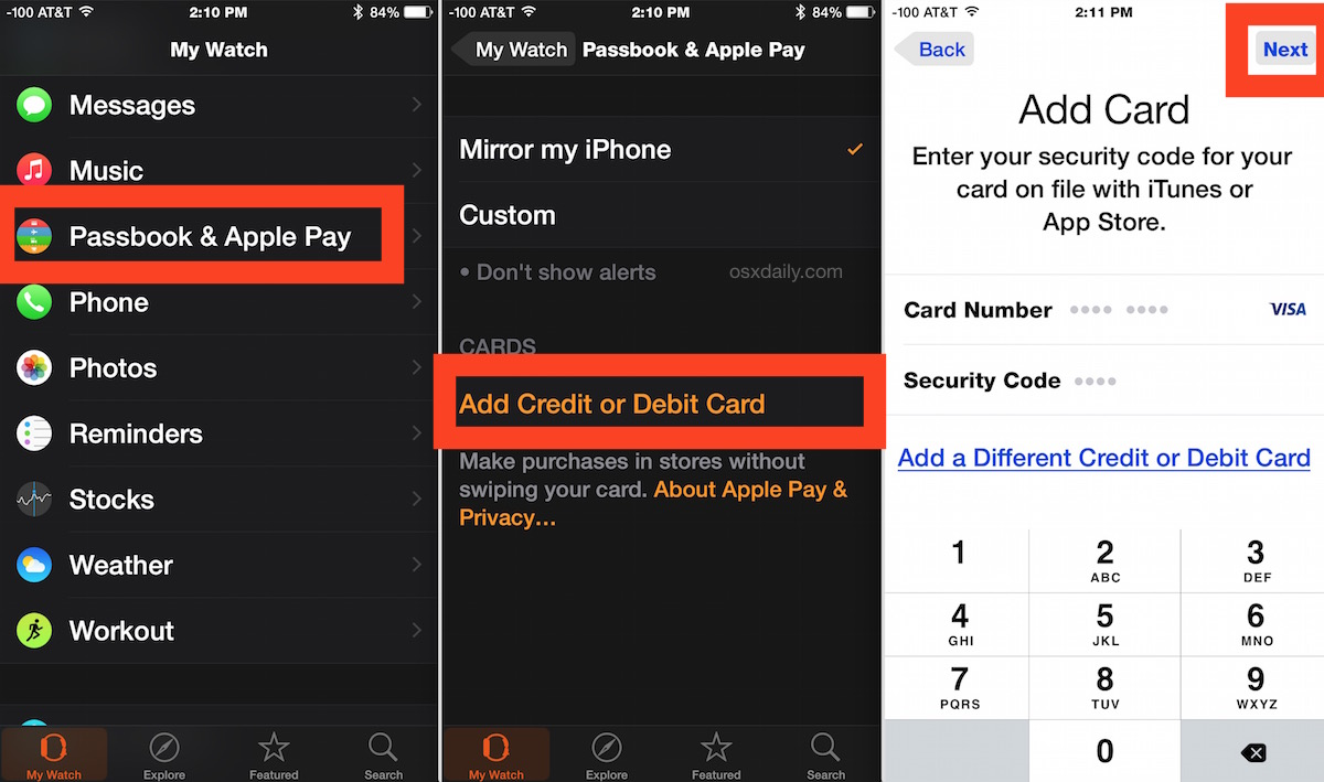 How to add an Apple Pay card to Apple Watch