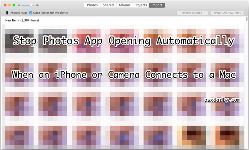 How to Stop Photos app opening itself on Mac OS X