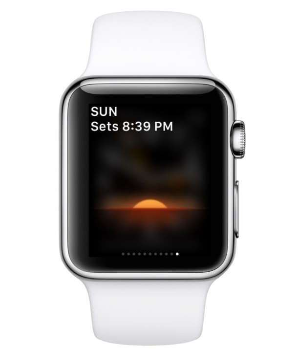 Third party app installed onto Apple Watch, seen in Glances