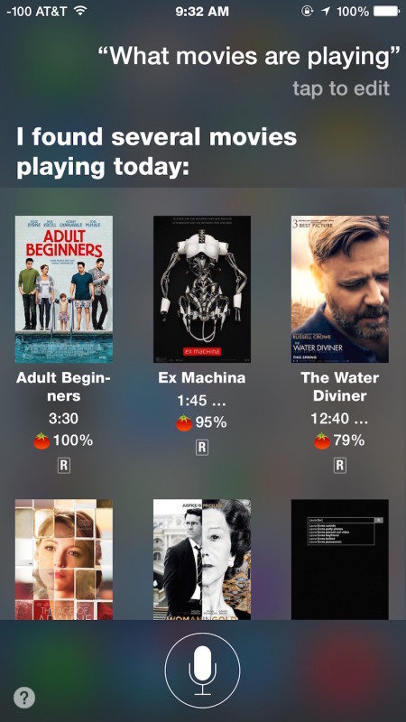 Find out What movies are playing with Siri