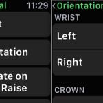 Change Apple Watch wrist orientation in device settings