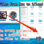 How to copy files to iCloud Drive from the Mac with a drag and drop trick
