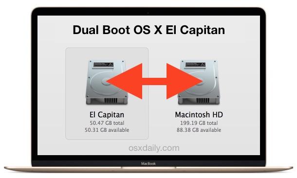 Dual boot OS X El Capitan on a Mac