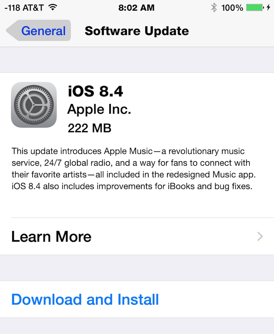 iOS 8.4 update download
