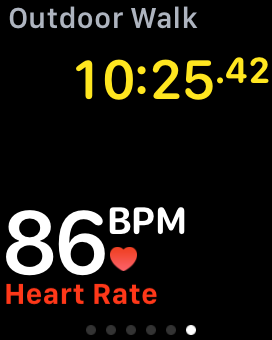 Continuous heart rate monitoring with Apple Watch fitness app