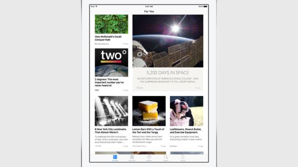 News app iOS 9