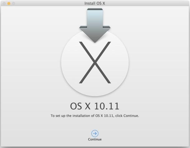 OS X El Capitan 10.11 Boot Install drive