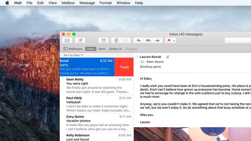 OS X El Capitan new font
