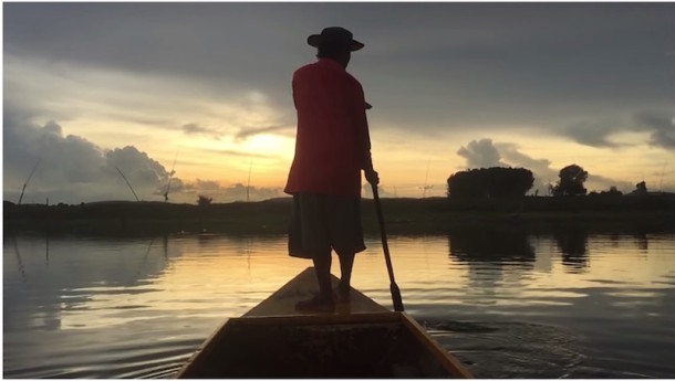 Shot on iPhone 6 lake paddler video