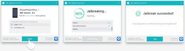 The Taig Jailbreak for iPhone on iOS 8.3