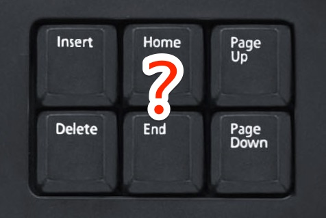 The Home and End button equivalents on a Mac keyboard