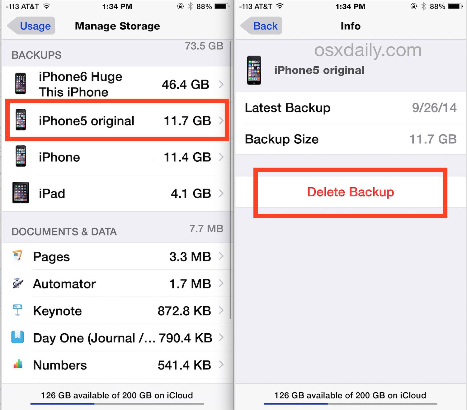 delete iphone backup how to delete icloud backups on iphone amp in ios 10495