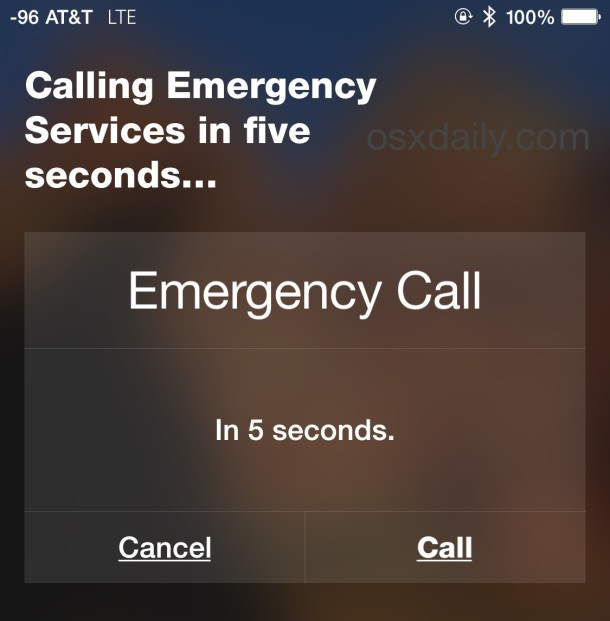 Call Emergency Services with Siri an iPhone if need be