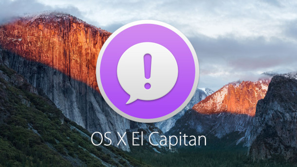 Give feedback about OS X El Capitan