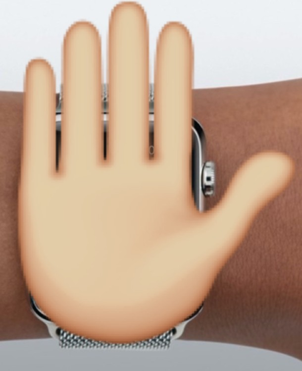 Hand over the Apple Watch face will dismiss an inbound phone call