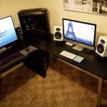 iMac dual screen with a PC desk setup