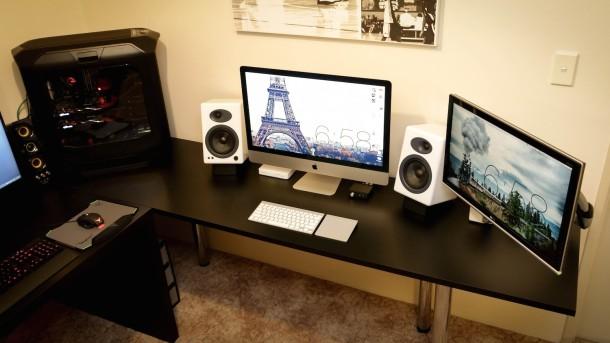 iMac dual screen setup