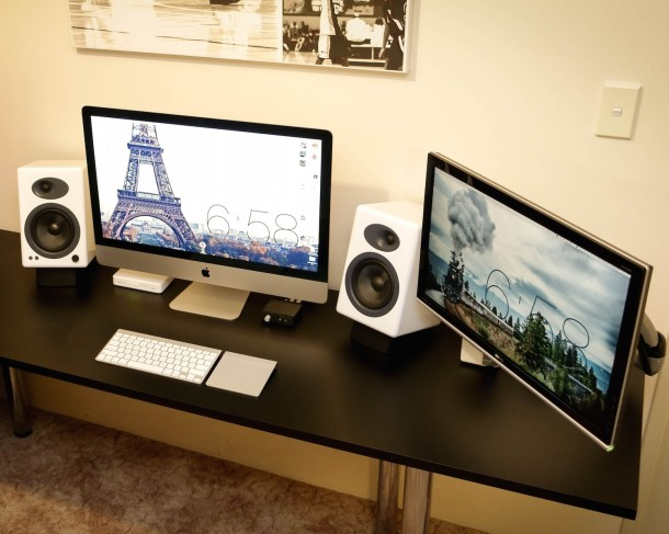 Mac setup: IT Admin personal workstation with iMac and secondary display