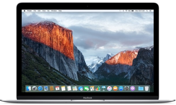 OS X EL CAPITAN 10.11 on a Mac