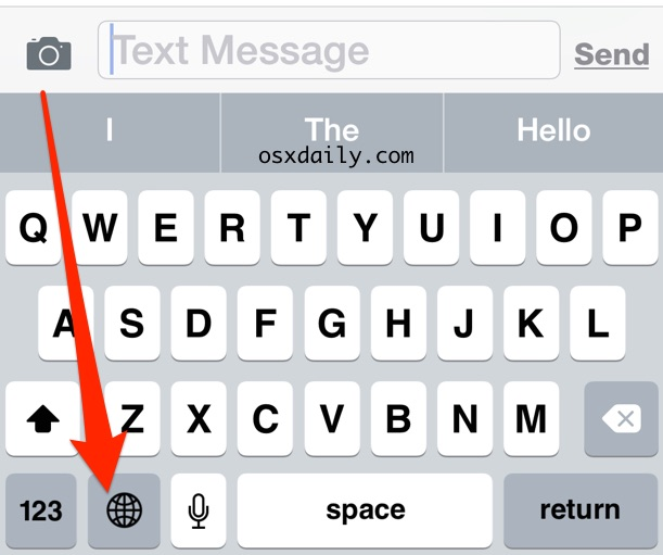 Switching the Keyboard Language on iPhone