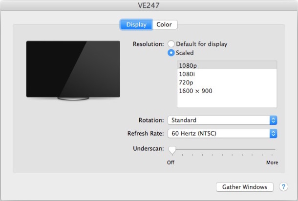 Mac display resolutions shown, before revealing all possible screen resolutions