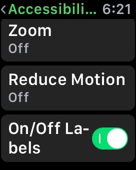 Reduce Animation on Apple Watch