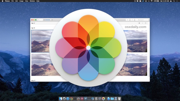 How to import pictures into Photos app on Mac OS X