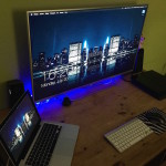 MacBook Pro with a TV Display