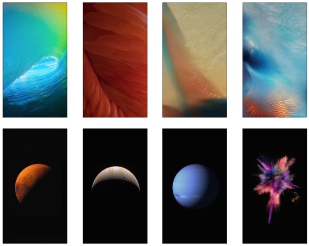 New iOS 9 default wallpaper collection