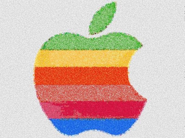 Retro Apple logo Emoji