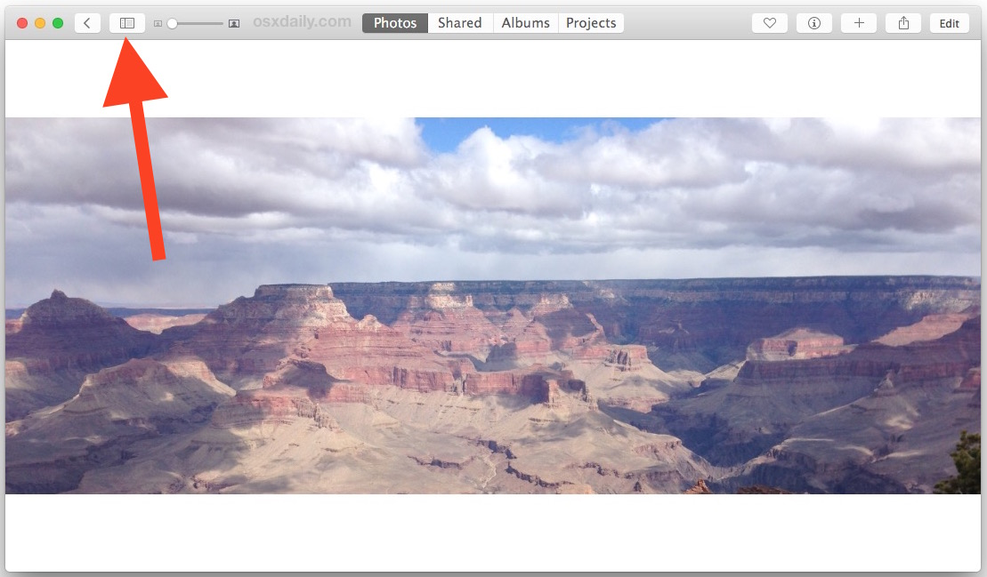 Accessing Split View in Photos app for Mac OS X