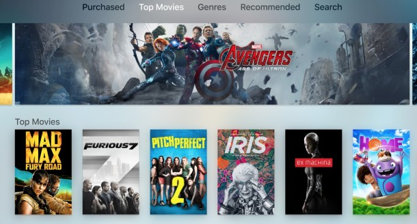 The all new Apple TV and Apple TV tvOS UI