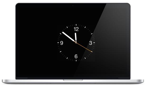 Apple Watch Screen Saver on a MacBook