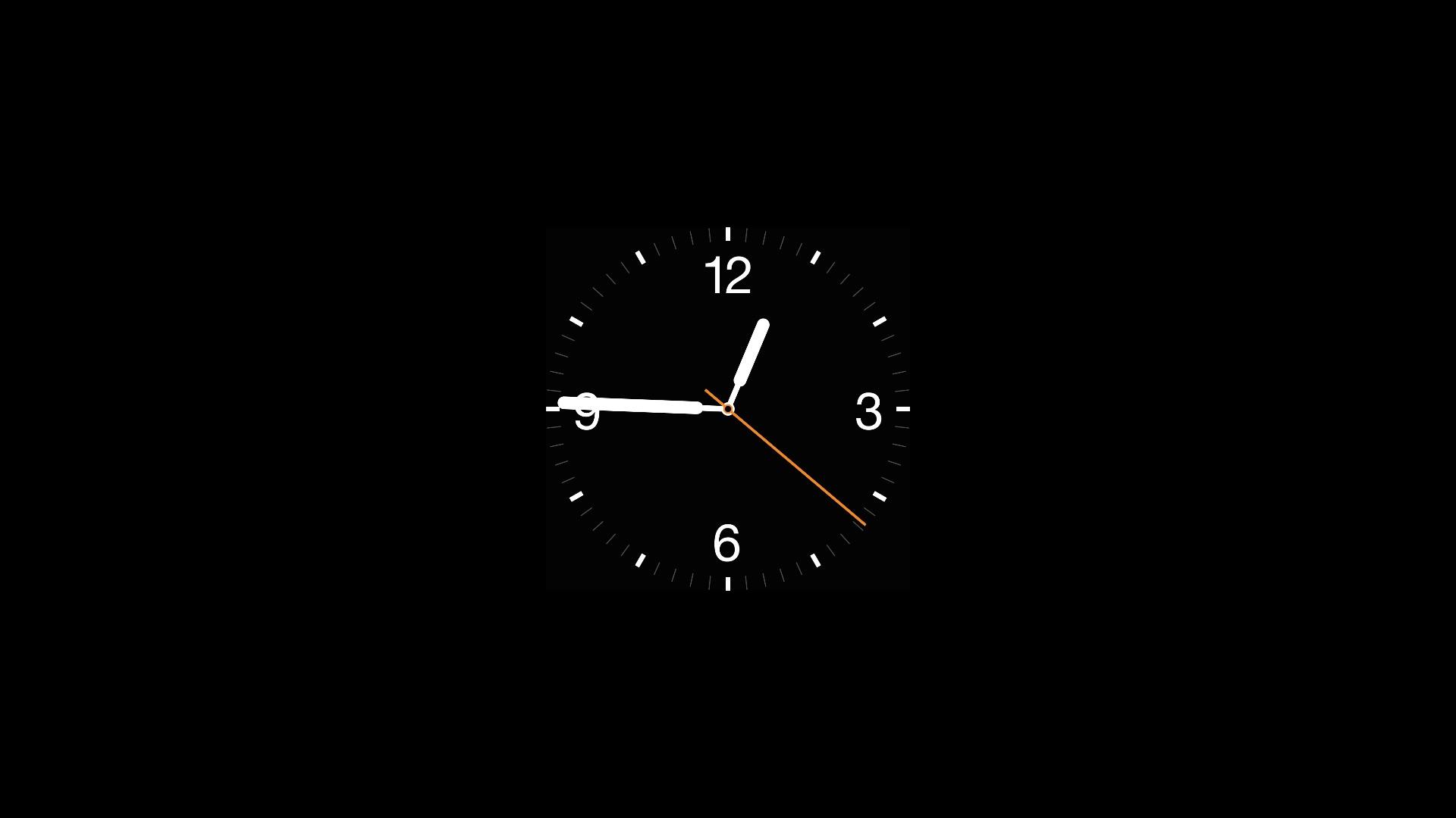 Apple Watch screen saver on a Mac