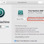 Check the time remaining of a Time Machine backup in Mac OS X