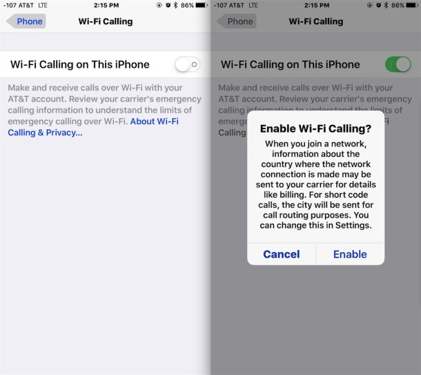 How To Enable Wi Fi Calling On Iphone Osxdaily
