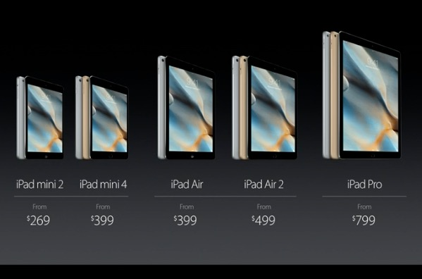 the new iPad line