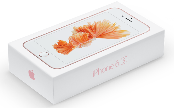 The iPhone 6S box