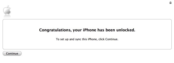 iPhone unlocked successfully